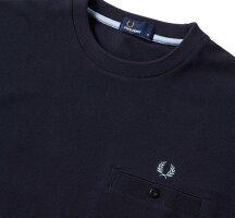 FREDPERRYフレッドペリーF1674PiqueT-shirtピケTシャツNAVYネイビー速乾素材鹿の子素材