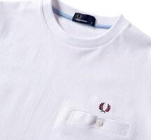 FREDPERRYフレッドペリーF1674PiqueT-shirtピケTシャツWHITEホワイト速乾素材鹿の子素材
