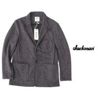 JackmanジャックマンJerseyJacketジャージジャケット在宅ワークテレワーク着心地抜群のジャケットJM8760ChacoalGrayチャコールグレー