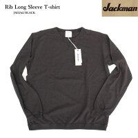 JackmanジャックマンJM5762RibLongSleeveT-ShirtリブロングスリーブTシャツコットン素材日本製Blackブラック