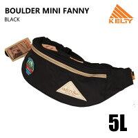【KELTY】ケルティBOULDERLINEBOULDERMINIFANNYボルダ—ミニファニーヒップサックボディバッグワッペンBLACKブラック5L2592179