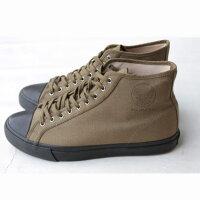 RRLダブルアールエルキャンバスコットンスニーカーOLIVEハイカットSneaker外箱付大きいサイズ1129cm