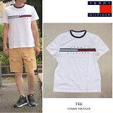 TOMMYHILFIGER(トミーヒルフィガー)TEETシャツ半袖メンズ・レディースWHITEホワイトアメリカ買付品!