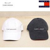 TOMMYHILFIGER(トミーヒルフィガー)コットンキャップベースボールキャップシンプル刺繍ロゴメンズ・レディースWHITE(ホワイト)NAVY(ネイビー)CAP帽子アメリカ買付品数量限定