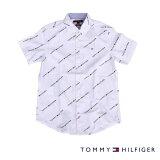 TOMMYHILFIGERトミーヒルフィガー半袖シャツ総柄WHITEホワイト