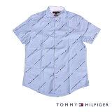 TOMMYHILFIGERトミーヒルフィガー半袖シャツ総柄BLUEブルー