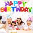 HAPPY BIRTHDAY 風船 誕生日 文字 バルーン ハッピーバースデー アルファベット ゴールド シルバー レインボー ピンク ライトブルー レッド