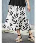 07月11日 午前10:00 新発売≪ ネット限定販売商品 ≫リネン柄リーフスカート