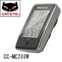 CATEYE キャットアイ CC-MC200W マイクロワイヤレス サイクルコンピューター ホワイト【自転車】