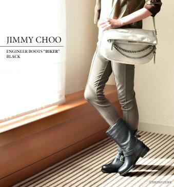 ジミーチュウ バイカー エンジニア ブーツ JIMMY CHOO BIKER 人気 ブランド 正規品| サイドベルト 3cm ローヒール 暖かい ボア もこもこ ラビットファー おしゃれ かっこいい レディース 本革 ブラック 靴 大きいサイズ 送料無料