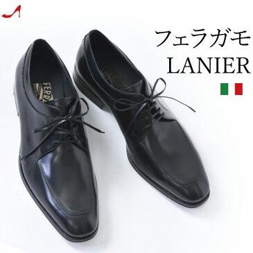 Salvatore Ferragamo LANIER フェラガモ メンズ ビジネス シューズ 靴 正規品 ブランド 紳士 革靴 紐 黒 ブラック 小さいサイズ 24cm 25cm 大きいサイズ 28cm