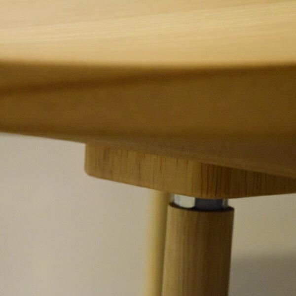 DUCKTAIL ダックテール 80 こたつテーブル 80×80 国産 正方形 ナラ/ウォールナット ナチュラル オシャレな細脚 北欧 モダン 座卓 センターテーブル おしゃれなローテーブル リビングテーブル 立体加工 こたつ タカタツ