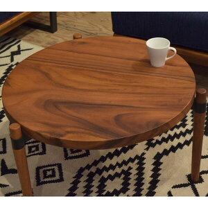 ラウンドローテーブルセンターテーブル大小セットコーヒーテーブル天然木製ブラウン三本足テーブル円形テーブルを二つ組み合わせたセンターテーブル丸テーブルおしゃれ新生活ネストテーブルのようにも使える丸テーブル