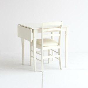 エレガントホワイトなバタフライテーブル70ダイニングテーブルコンパクトサイズinerenoスマートサイズホワイトデスク大人ガーリー一人暮らし向き新生活白家具レトロ大人女子