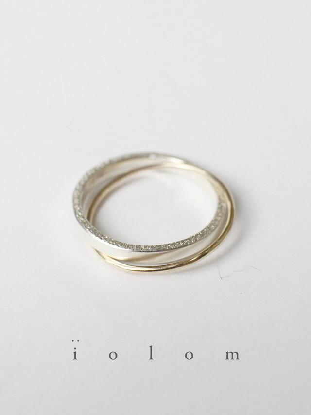 男女兼用アクセサリー, 指輪・リング iolom - TWIN LAYER RING - io-01-181 : Ag95010k