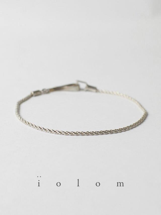 男女兼用アクセサリー, ブレスレット iolom - Silver Bracelet TYPE D