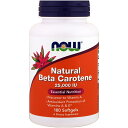 【Now Foods公式ストア】 ナウフーズ ナチュラル ベータカロテン 25000IU 180粒【Now Foods】Natural Beta Carotene 25,000IU 180CAPS
