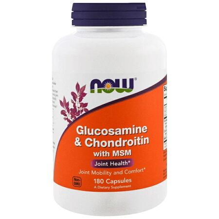 【NOWFOODS】ナウフーズGlucosamine&Chondroitinグルコサミン&コンドロイチン180錠