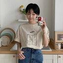BRANDI(ブランディ)グラフィックオーバーサイズTシャツ【8/2up_go】【メール便】韓国 韓...