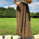 【アウトレットセール】ssong by ssong(ソンバイソン)ひょうがらロングスカート【8/7up_ys】【送料無料】韓国 韓国ファッションひょうがらレオパードロングスカートお洒落夏デイリー フェミニン バカンス ピクニック旅行レディース 【あす楽】