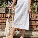 SONYUNARAリネン混紡スカート韓国韓国ファッションスリットスカートリ...