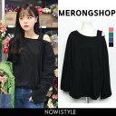 MERONGSHOP(メロンショップ)肩紐ボックスTシャツ 韓国 韓国...