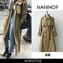 NANING9(ナンニング)ロングトレンチコート【8/27up_go】...