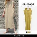 NANING9(ナンニング)ノースリーブフーディワンピース【...