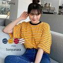 SONYUNARA(ソニョナラ)3色ストライプTシャツ【4/10up_wo】韓国 韓国ファッション ...