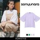 SONYUNARA(ソニョナラ)フレアスリーブTシャツ【6/...
