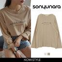 SONYUNARA(ソニョナラ)筆記体ルーズフィットTシャツ...