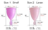 【詳しい日本語説明書付】ナチュラルカップサイズ1スモール送料無料【100%医療用シリコン】【月経カップ】