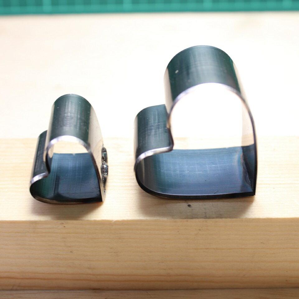 レザークラフト 工具 裁断抜き型 ハートD 2点セット H=23.6mm 抜型 道具 小物つくり