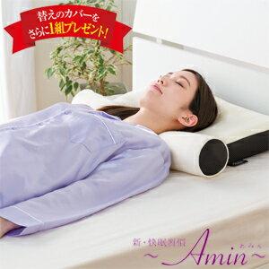 【在庫あり】\ページ限定・マジッククロス付/ 新 快眠習慣 Amin アミン 【送料無料・代引料無料・正規品】 [理想的な寝姿勢をサポートする枕 あみん 枕とポールが分離して足枕 腰枕としても]