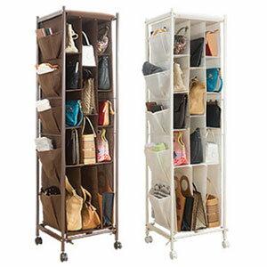 バッグ収納ラック 3列 【送料無料】 [小さめのバッグをきれいにまとめて収納できるカバン収納ラック] バッグ収納棚 かばん収納庫 バッグ収納ボックス かばん収納ボックス