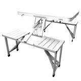 ガーデンテーブル チェア アウトドアテーブルセット アルミ 【送料無料】【折り畳み式ガーデンテーブル&チェアー PC1135】 レジャーテーブル アルミチェア