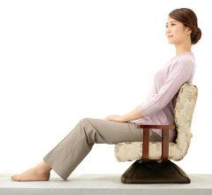 立ち上がりやすい回転座椅子