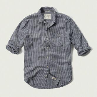 [限期供應降價中的][郵費免費][新貨]abakuro[Mens人]W紗布襯衫/Light Blue Stripe[Stripe Cotton Shirt][Abercrombie&Fitch][真貨保證][明天輕鬆的對應]