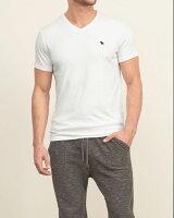 【送料無料】【新品】アバクロ【Mensメンズ】VネックTシャツ(半袖)/White【MuscleFitV-NeckTee】【Abercrombie&Fitch】【本物保証】【あす楽対応】