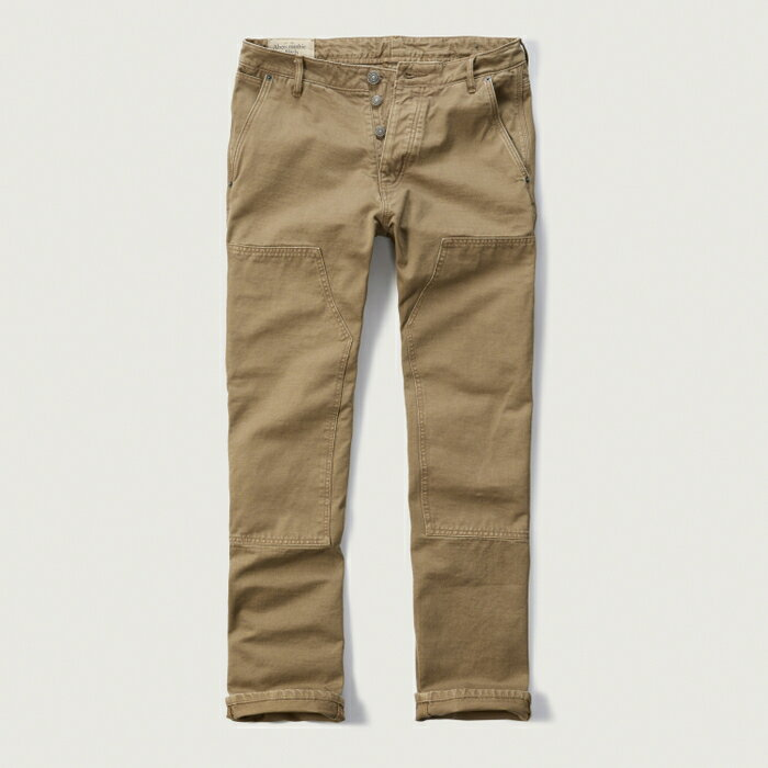 メンズファッション, ズボン・パンツ AbercrombieFitch () (Washed Carpenter Chino) (Khaki)