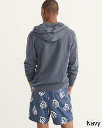 【新品】アバクロ【Mensメンズ】Moose刺繍フルジップパーカー/Navy【Full-ZipIconHoodie】【Abercrombie&Fitch】【本物保証】