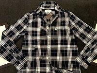 【新品】アバクロ【Mensメンズ】ボタンダウンチェックシャツ(長袖)/NavyCheck【Abercrombie&Fitch】【本物保証】