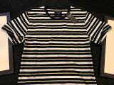 ◆【新品】アバクロ【Mensメンズ】クルーネックボーダーTシャツ(半袖)/Grey and Navy Stripe【Striped Crew Tee】【Abercrombie&Fitch】【本物保証】