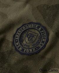 【新品】アバクロ【Mensメンズ】アップリケ長袖Tシャツ(ロンT)/OliveCamo【Long-SleeveAppliqueTee】【Abercrombie&Fitch】【本物保証】