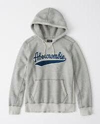 【新品】アバクロ【Mensメンズ】ヘビーウェイトヘリテージロゴフーディー/HeatherGrey【HeavyweightHeritageLogoHoodie】【Abercrombie&Fitch】【本物保証】