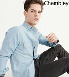 【新品】アバクロ【Mensメンズ】シャンブレーシャツ(長袖)/Chambley【Two Pocket Chambray Shirt】【Abercrombie&Fitch】【本物保証】