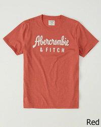 【新品】アバクロ【Mensメンズ】アップリケTシャツ(半袖)/Red【LogoGraphicTee】【GraphicTees】【Abercrombie&Fitch】【本物保証】