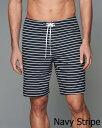 Abercrombie&Fitch (アバクロンビー&フィッチ) ストレッチ ボードショーツ (水着) (9'' Board Fit Swim Shorts) メンズ (Navy Stripe) 新品 2