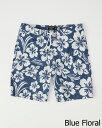 Abercrombie&Fitch (アバクロンビー&フィッチ) ライナー 裏地付き ストレッチ ボードショーツ (水着) (Classic Boardshorts) メンズ (Blue Print) 新品