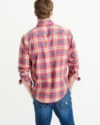 【新品】アバクロ【Mensメンズ】ウォッシュドチェックシャツ(ネルシャツ)/PinkPlaid【WashedPlaidShirt】【Abercrombie&Fitch】【本物保証】